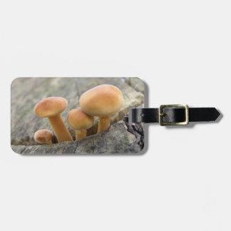 Toadstools on a Tree Trunk Custom Luggage Tag