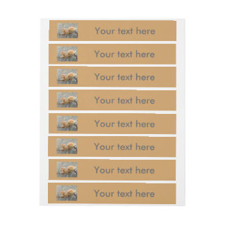 Toadstools on a Tree Trunk Customizable Labels