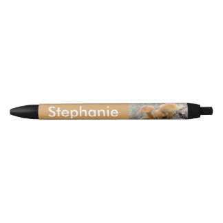 Toadstools on a Tree Trunk Personalized Pen