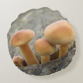 Toadstools on a Tree Trunk Pillow