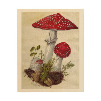 Toadstools Wood Wall Decor