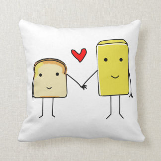 Toast and butter pillow