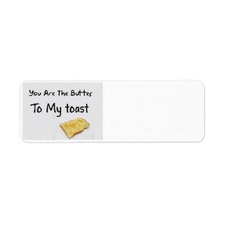Toast Bread Love Words Return Address Label