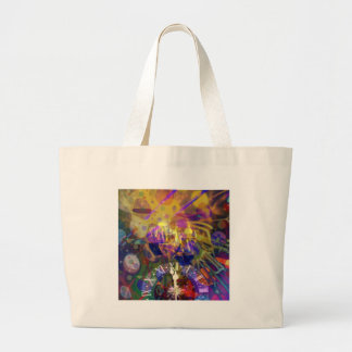 Toast in New Year celebration party. Large Tote Bag