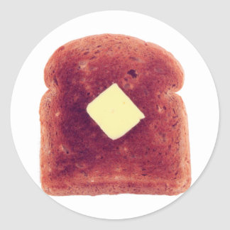 Toast Round Sticker