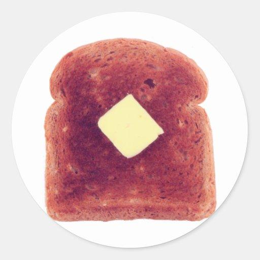 Toast! Round Sticker