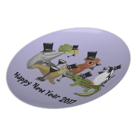 Toast the New Year Decorative Plate