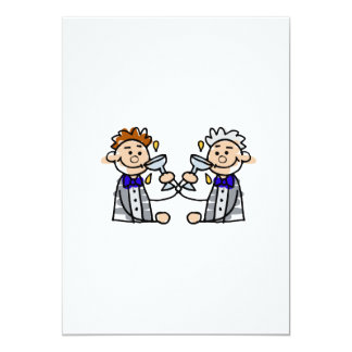 """Toast to the Grooms 5"""" X 7"""" Invitation Card"""