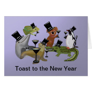 Toast to the New Year Card