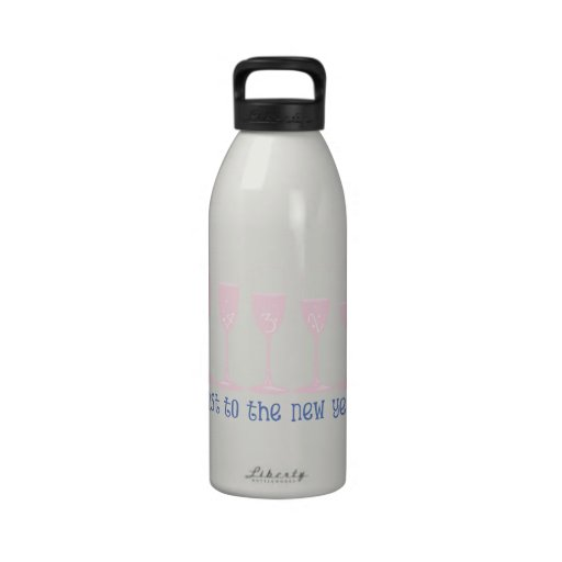 Toast To The New Year! Drinking Bottle