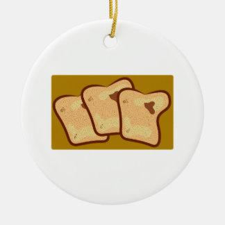 Toasted Bread Ceramic Ornament