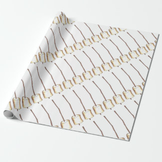 Toasted Marshmallow Campfire Camping Gift Wrap