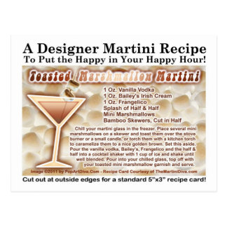 Toasted Marshmallow Martini Recipe Postcard