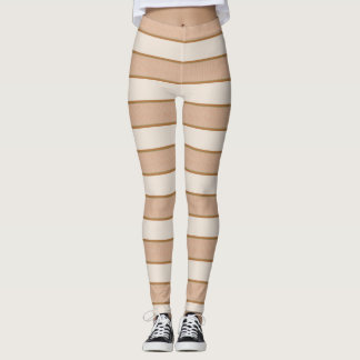 Toasted Marshmallow Stripes Leggings