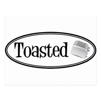 TOASTED Retro Toaster - Black & White Postcard