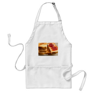 Toasted slices of bread with strawberry jam standard apron