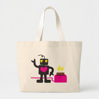 toaster love large tote bag
