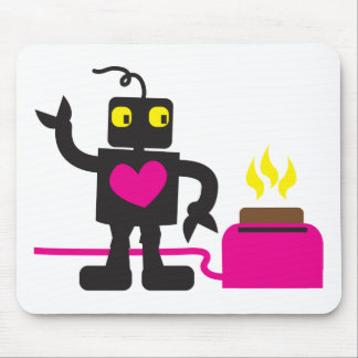 toaster love mouse pad
