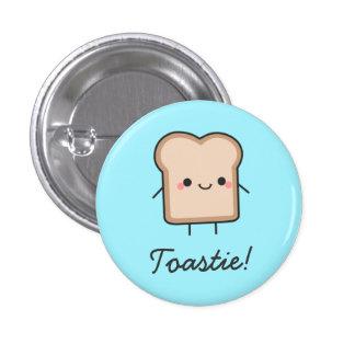 Toastie ! Bouton Macaron Rond 2,50 Cm