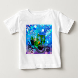 Toasting glasses and music notes. baby T-Shirt