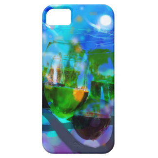 Toasting glasses and music notes. iPhone 5 case