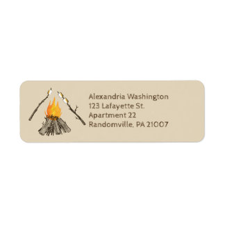 Toasting Marshmallows Campfire Return Address