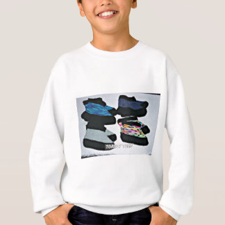 toasty toes handknit slippers sweatshirt