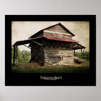 Tobacco Barn Black Border Poster
