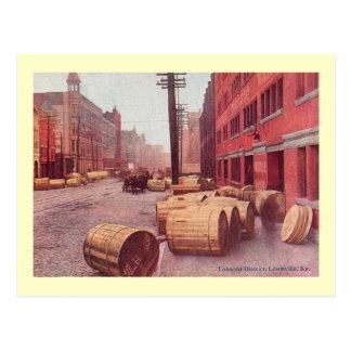 Tobacco Barrels, Louisville, Kentucky Vintage Postcard