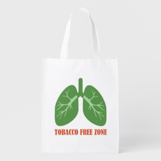 Tobacco Free Zone Reusable Grocery Bag