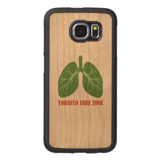 Tobacco Free Zone Wood Phone Case