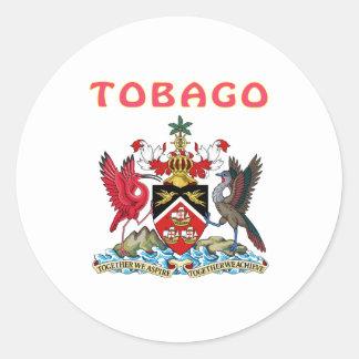 Tobago Coat Of Arms Classic Round Sticker