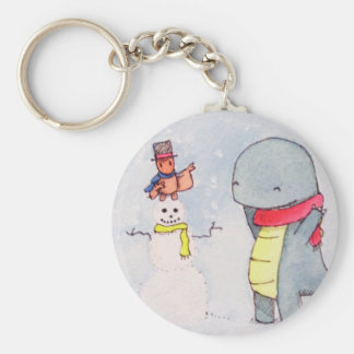 Tobey and Max Snowman Keychain