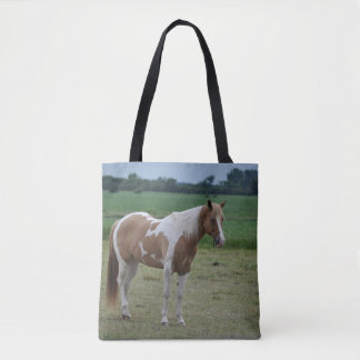 Tobiano Paint Horse Tote Bag