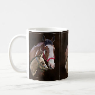 Tobiano Paint Mare and Foal Coffee Mug