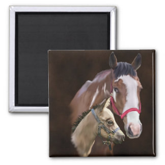 Tobiano Paint Mare and Foal Magnet