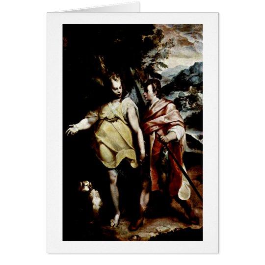 Tobias And The Angel By Raffaellino Da Reggio Card