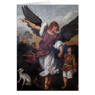 Tobias and the Archangel Raphael  - Titian Card