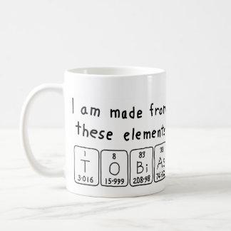 Tobias periodic table name mug