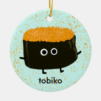 Tobiko Sushi Ceramic Ornament