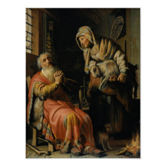 Tobit And Anna With A Kid Poster