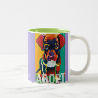 Toby ADOPT Mug by Ron Burns