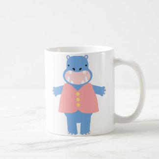 Toby Hippo Classic White Coffee Mug