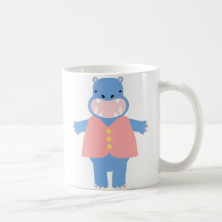 Toby Hippo Basic White Mug