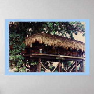 Toby Inn Tree House Bar,  Montego Bay Jamaica Poster