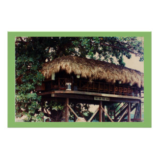 Toby Inn Tree House Bar, Montego Bay, Jamaica Poster