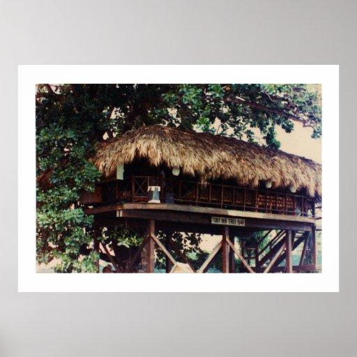 Toby Inn Tree House Bar, Montego Bay, Jamaica Posters
