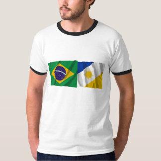 Tocantins & Brazil Waving Flags T-shirts