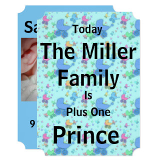 Today a Prince Is Born Announcement