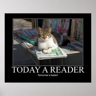 Today a Reader Cat Artwork Poster